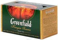 Schwarzer Kenia-Broken-Tee Greenfield in Doppelkamerboitel