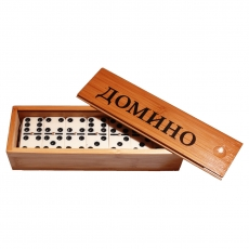 Russische Spiel Domino Holzbox Tischspiel Игра Домино