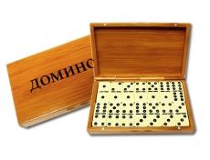 Russische Spiel Domino Bambusbox Tischspiel Игра Домино
